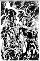 AQUAMAN Issue 07 COVER THE OTHERS! by JoePrado2010