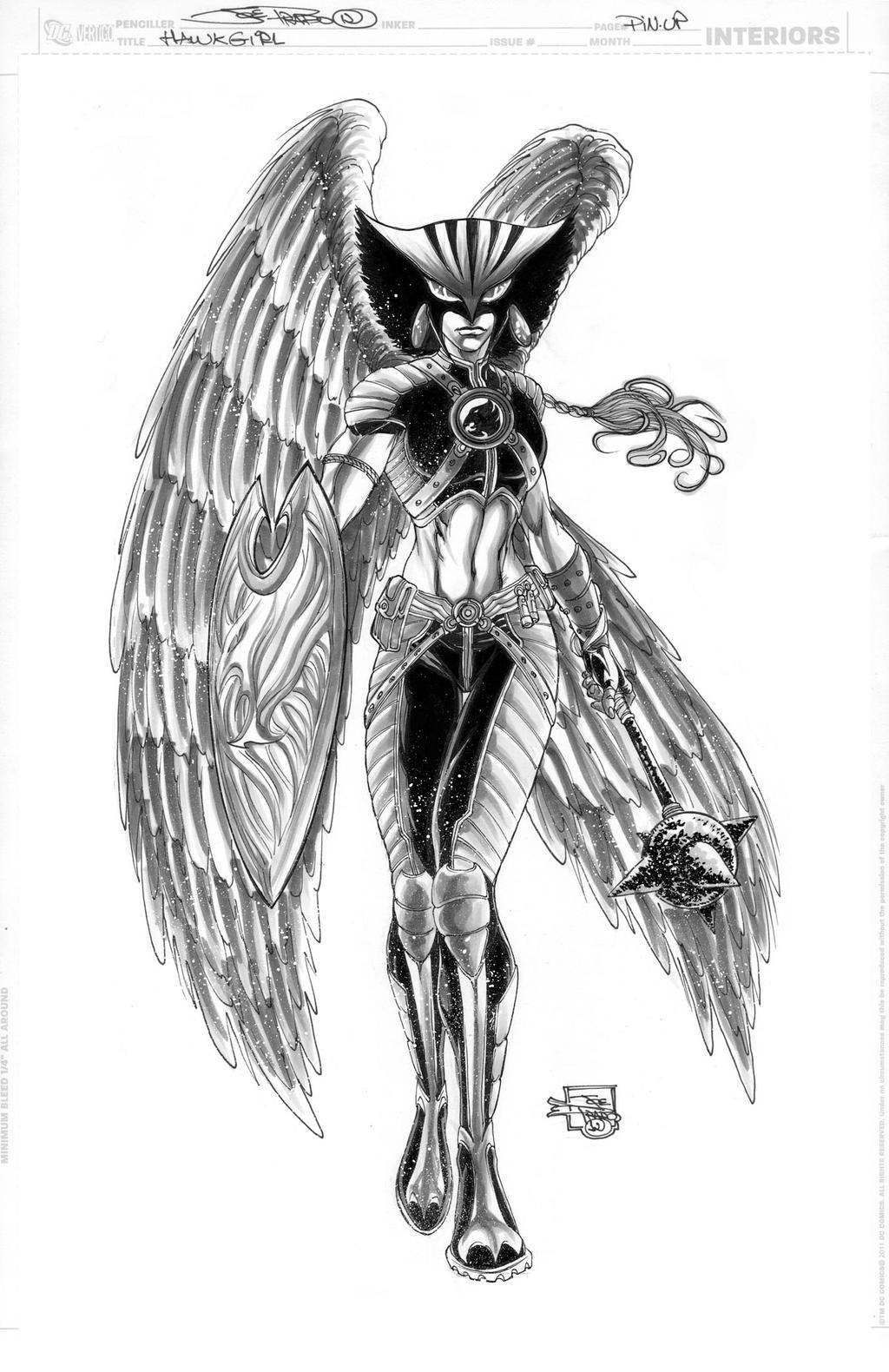 HAWKGIRL Commission by JoePrado2010