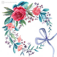 Flower wreath by mia-sko