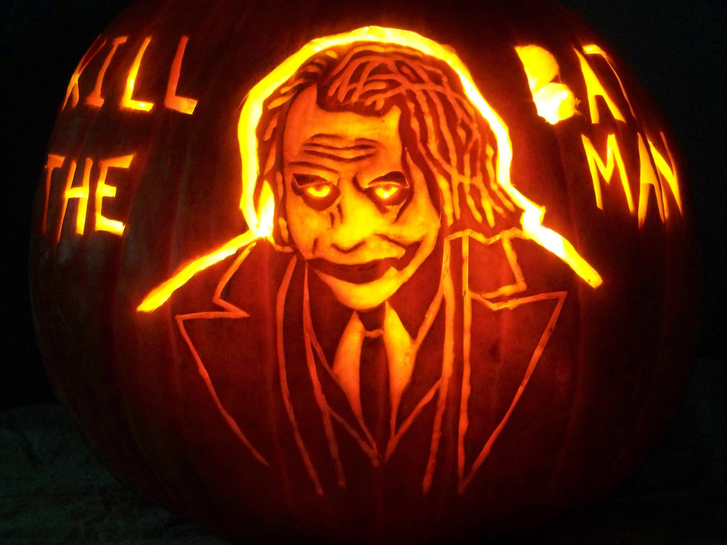 Joker pumpkin by yxzy on deviantart