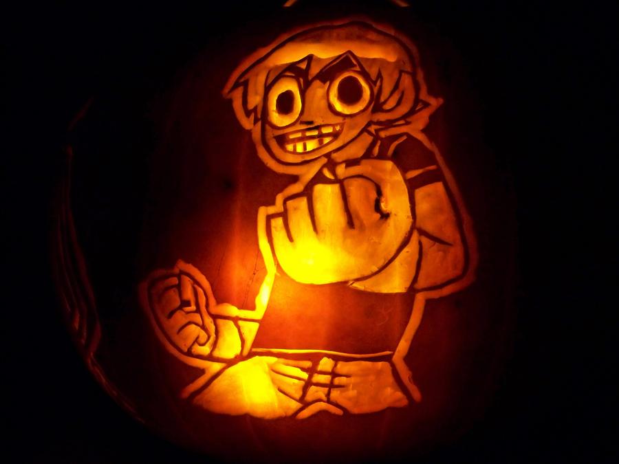 Scott Pilgrim Pumpkin 1: Scott by YXZY