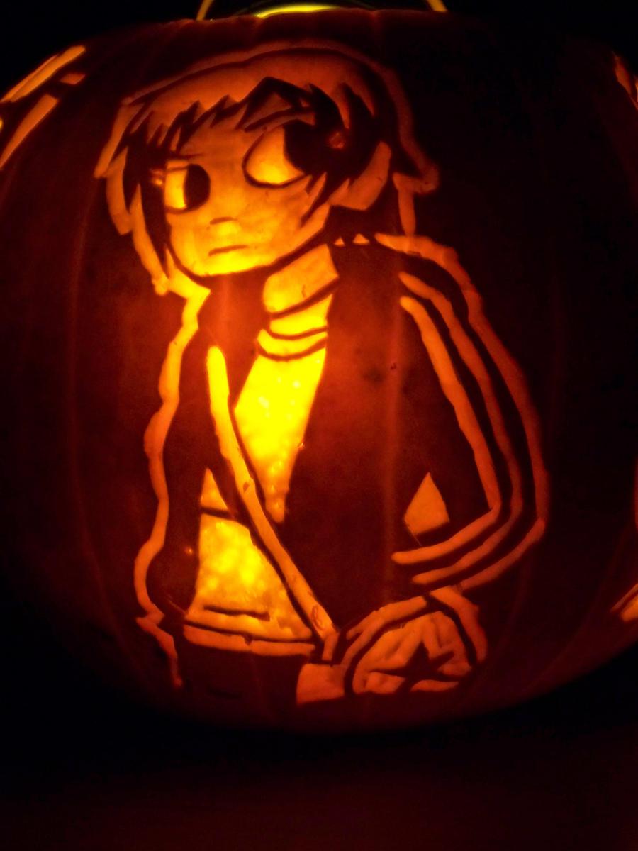 Scott Pilgrim Pumpkin 2:Ramona by YXZY