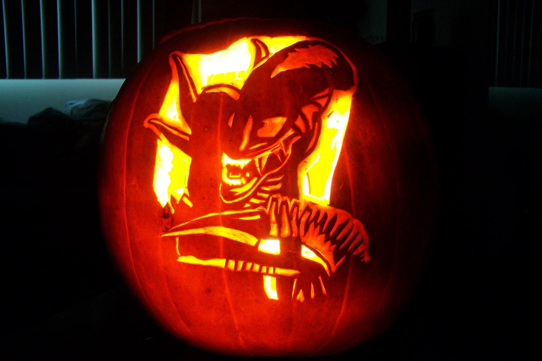 Xenomorph pumpkin by yxzy on deviantart - Attractive kid halloween decorating design ideas with various spiderman pumpkin carving ...
