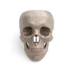 full skull ring front by noformdesign