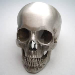 full skull ring in silver