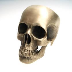 full skull ring in bronze by noformdesign