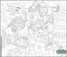 Killbot Commission Pencils by baby-marshmallow