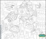 Killbot Commission Pencils