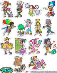 Vector Characters Sticker Commision