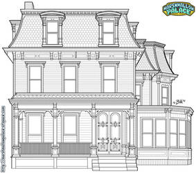 Victorian House Vector Commission