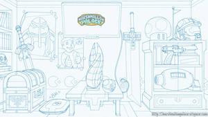 Backdrop Commission Sketch