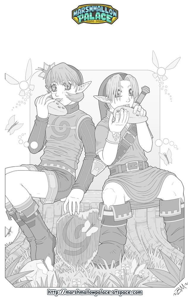 Marshmallowvision - Zelda OoT sketch