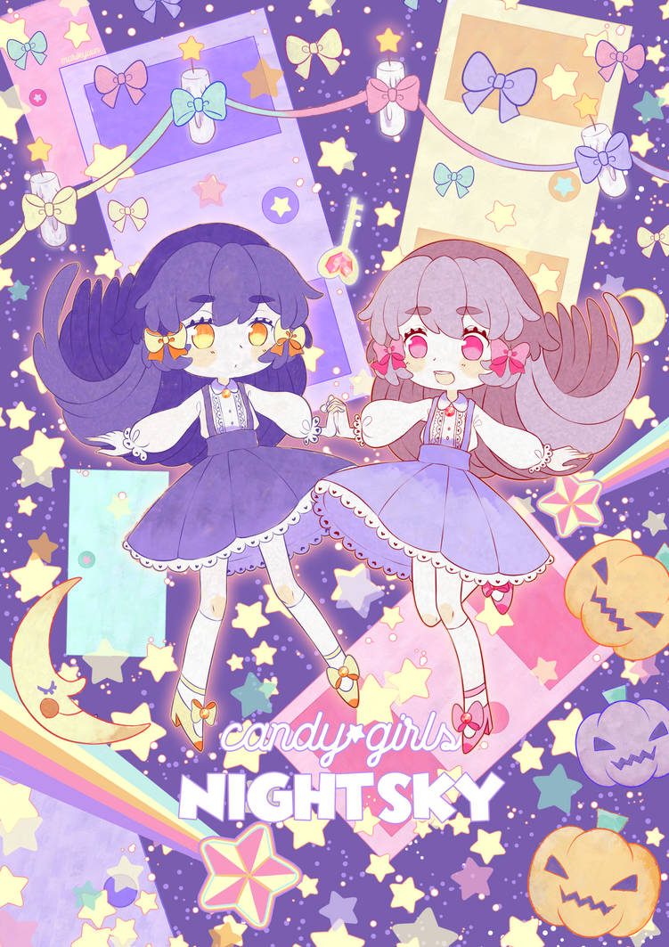 candy girls' NIGHT SKY by marikyuun