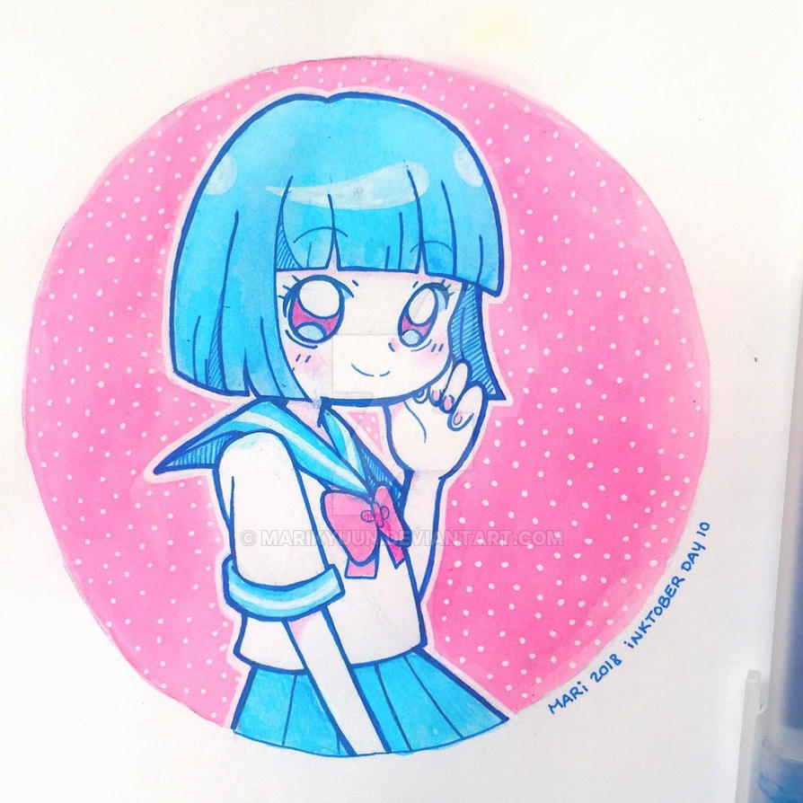 INKTOBER DAY 10 - Sailor Uniform by marikyuun