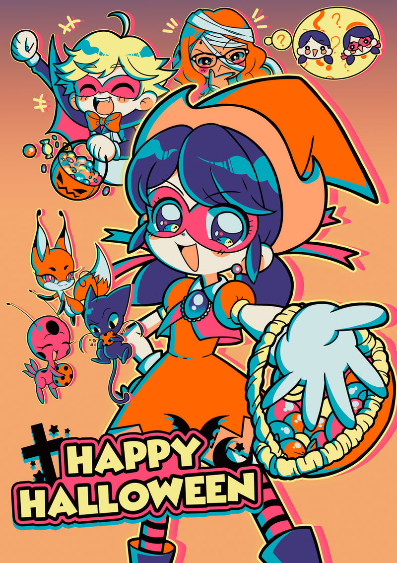 Have a Miraculous Halloween! by marikyuun