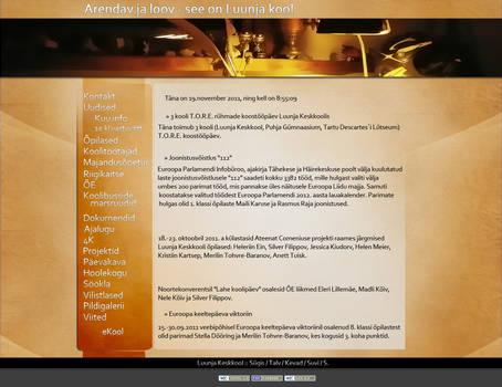 Zi school webpage design