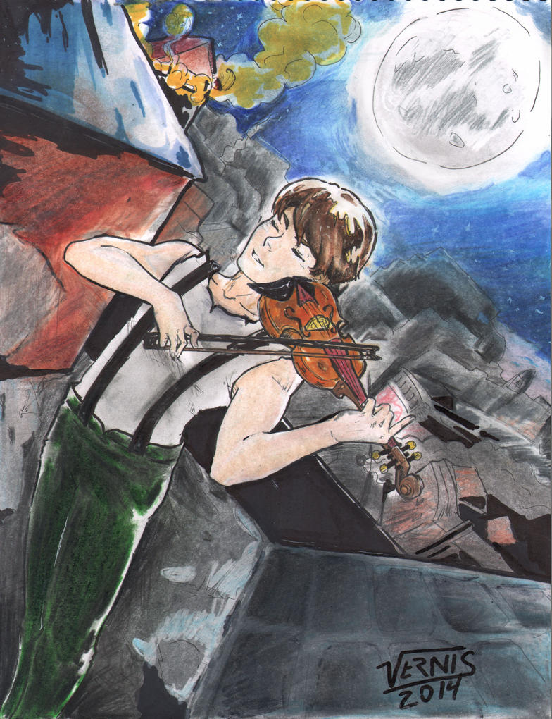 The Violinist ~inspire by @syren. by grams2300