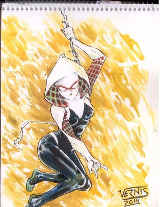 gwen Stacy spiderwoman by grams2300