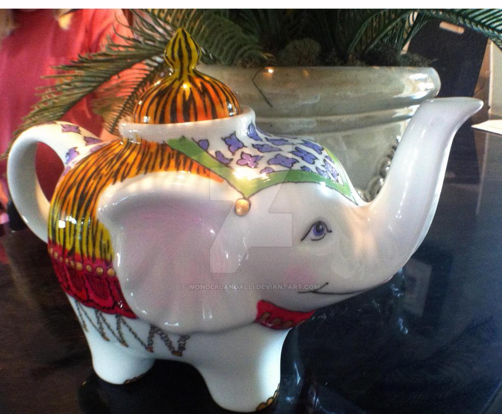 White Elephant Teapot