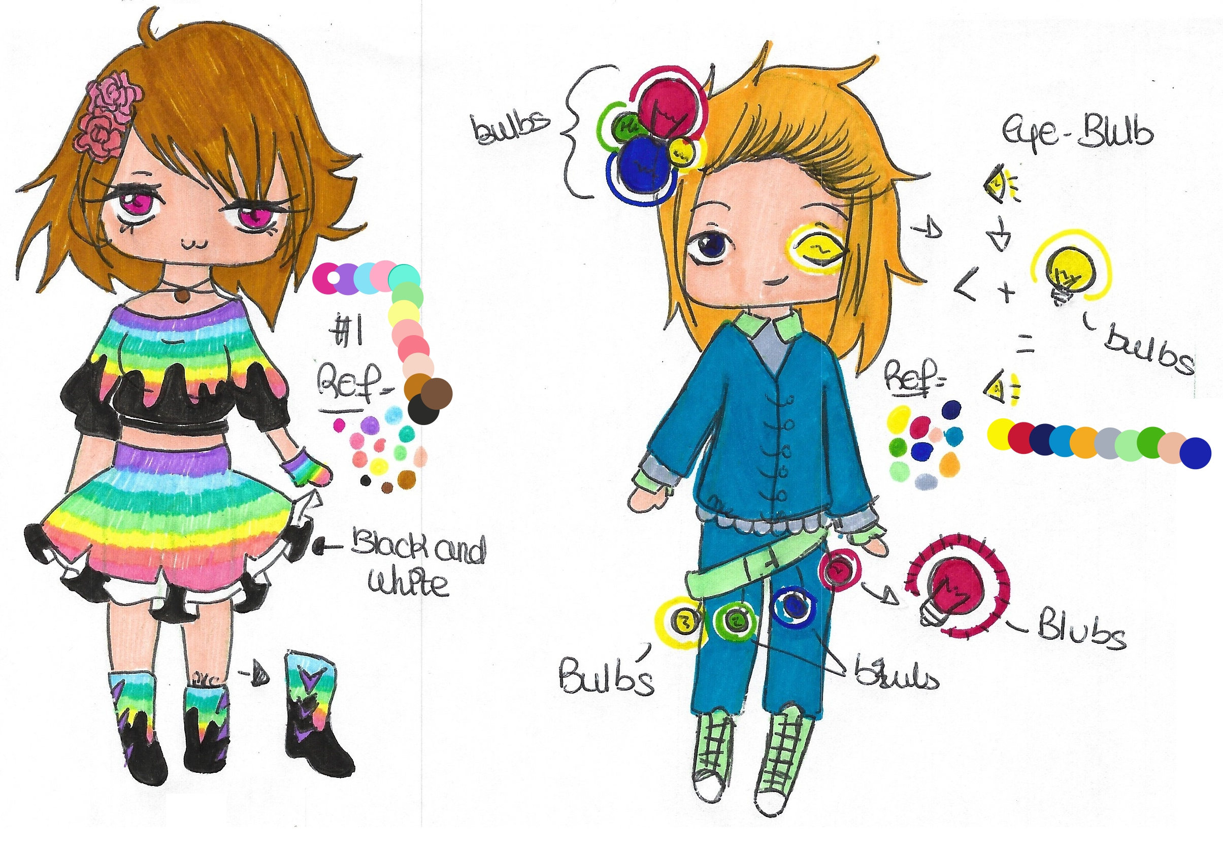 Adopt for 15 points GIRL and BOY by MarieLaCreatrice028