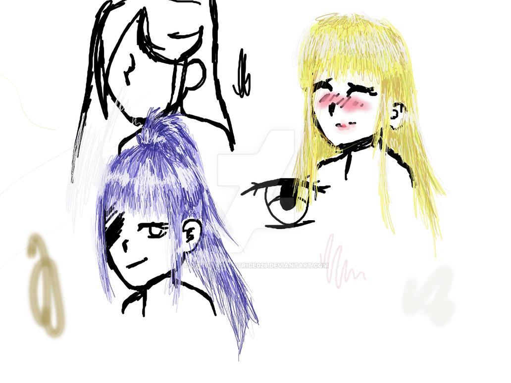 I Love How I Draw Hair By Marielacreatrice028 On Deviantart