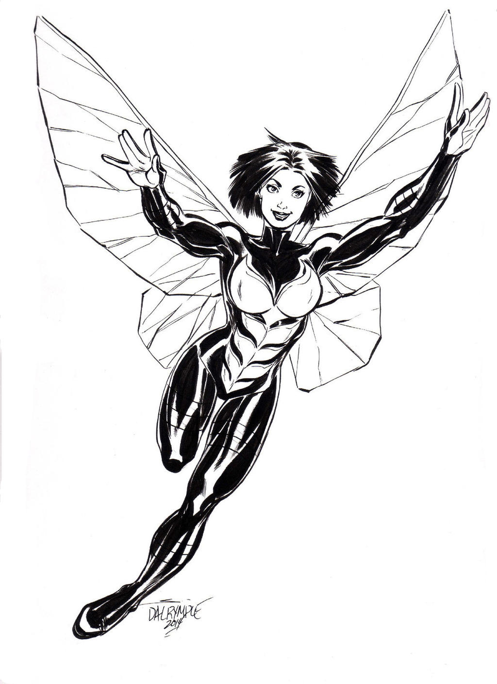 wasp avengers coloring pages - photo#14