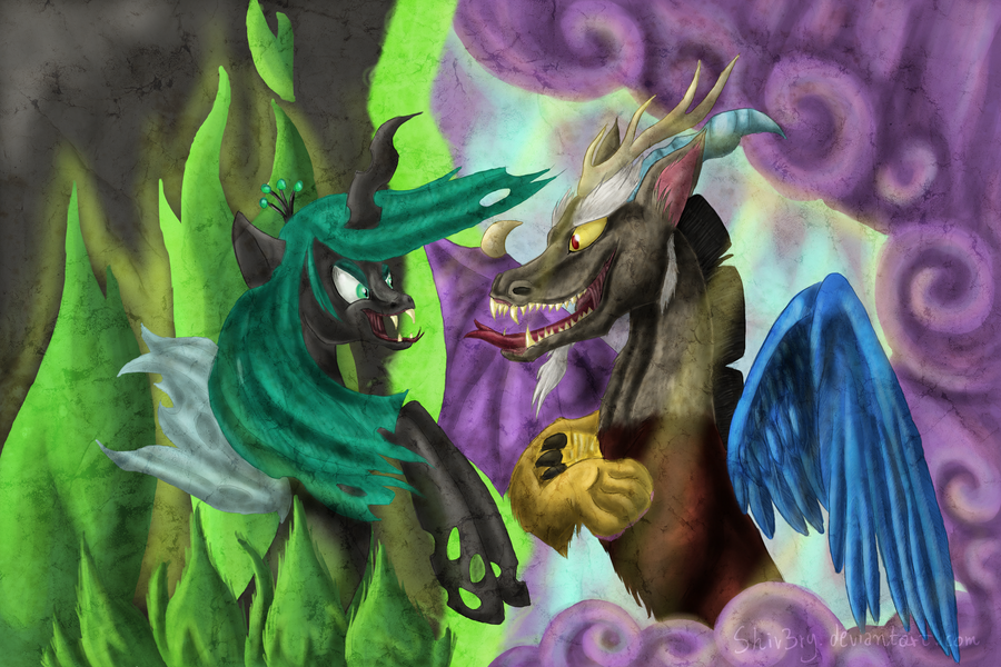 Chrysalis and Discord by Shiv3ry