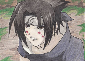 Uchiha Sasuke by SongOfAlbionTri