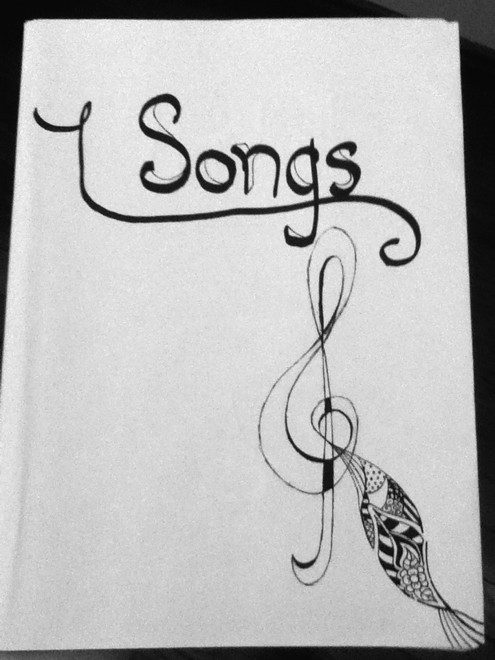 Doodled songbook cover WIP by never-going-back