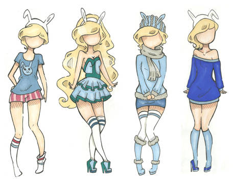 Fionna outfits by Aii-Cute
