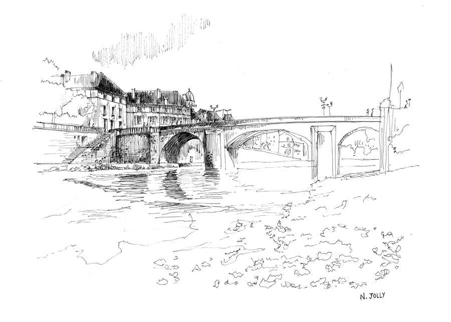 Sketch Montignac by nicolasjolly