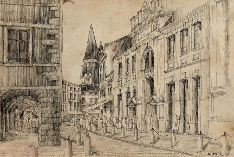 La Rochelle old paper by nicolasjolly