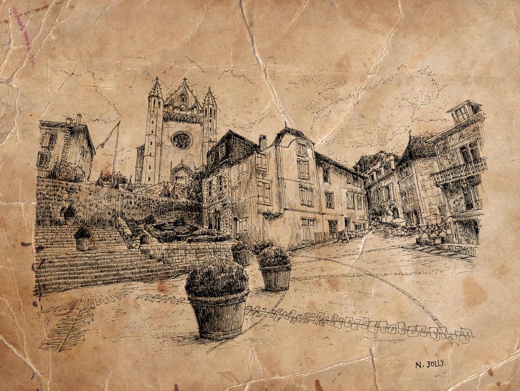 Church of Terrasson by nicolasjolly