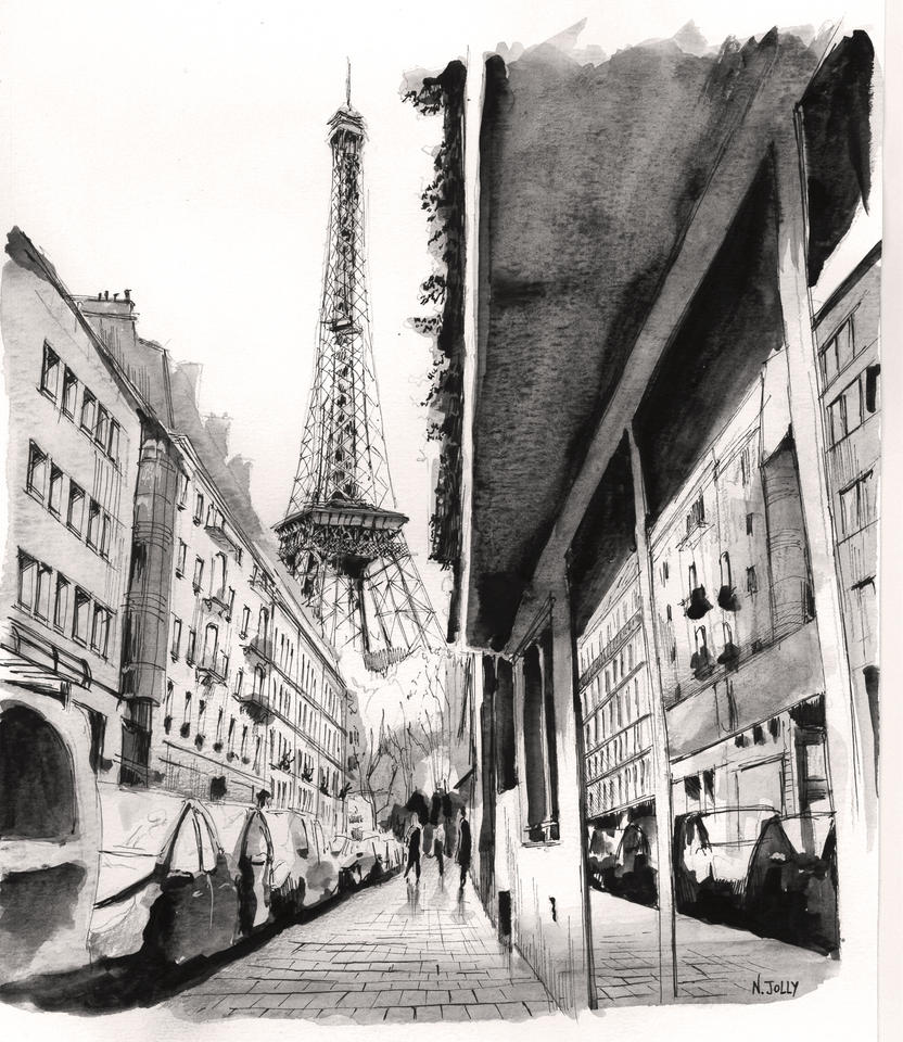 (SOLD) original - Eiffel Tower - Paris by nicolasjolly