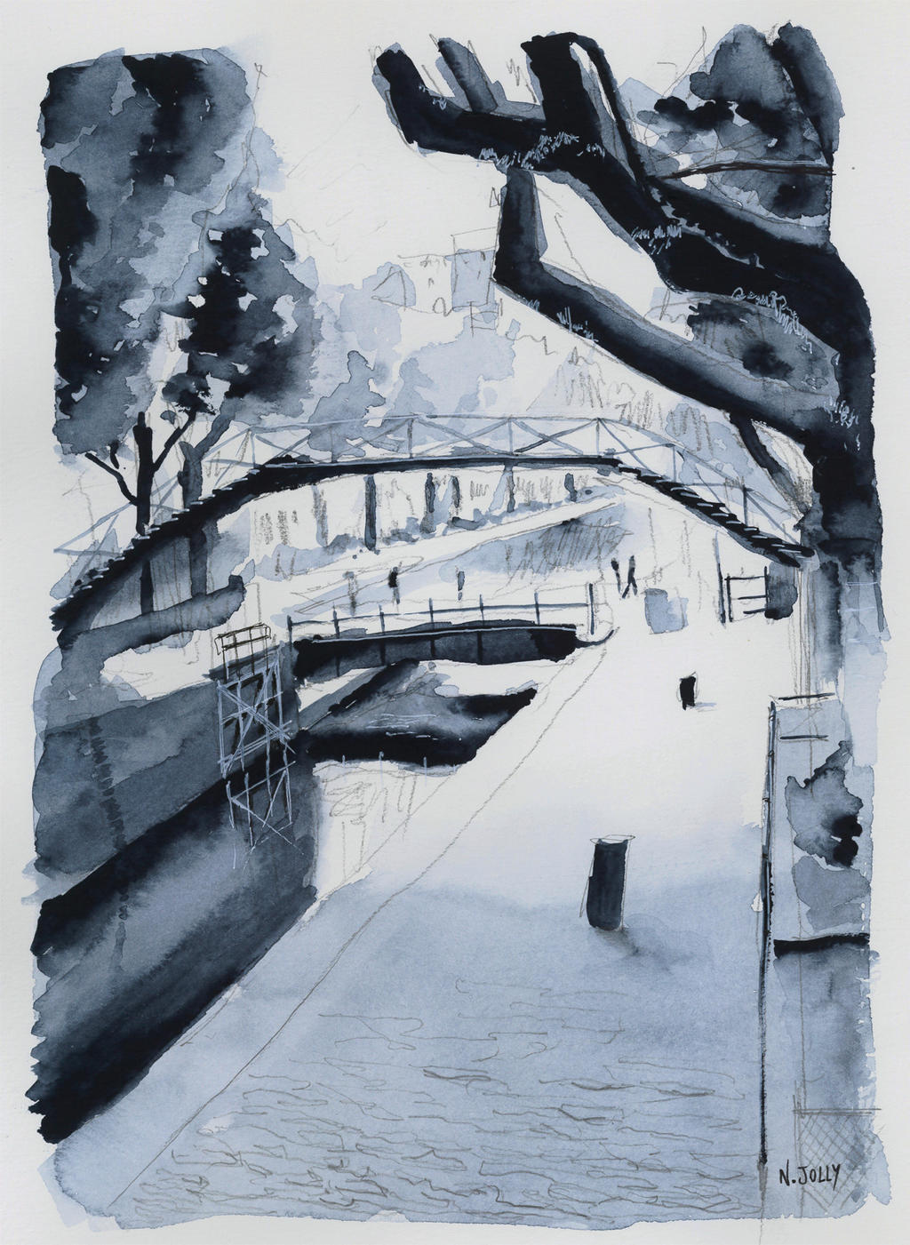 For sale original - Canal Saint-Martin - Paris by nicolasjolly
