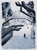 For sale original - Canal Saint-Martin - Paris by nicolasjolly