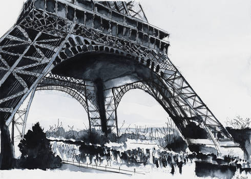 For sale original - Eiffel Tower - Watercolor