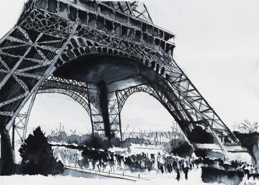 For sale original - Eiffel Tower - Watercolor