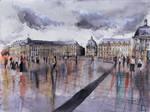 Place de la Bourse - Watercolor