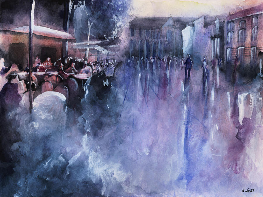 WATERCOLOR - Stravinsky - Paris by nicolasjolly