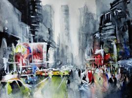 New York - New York - Watercolor by nicolasjolly