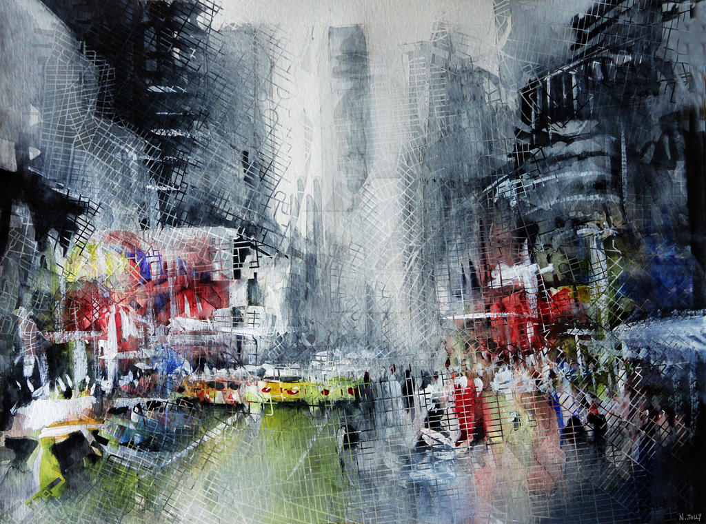 Manhattan painting by nicolasjolly