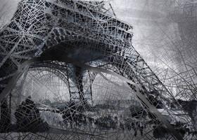 Paris map - Eiffel tower by nicolasjolly