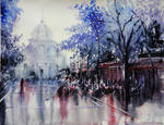 La Sorbonne - Paris - Watercolor Painting