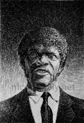 Jules Winnfield portrait - Samuel L. Jackson by nicolasjolly
