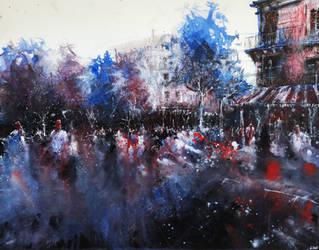 Paris watercolor by nicolasjolly