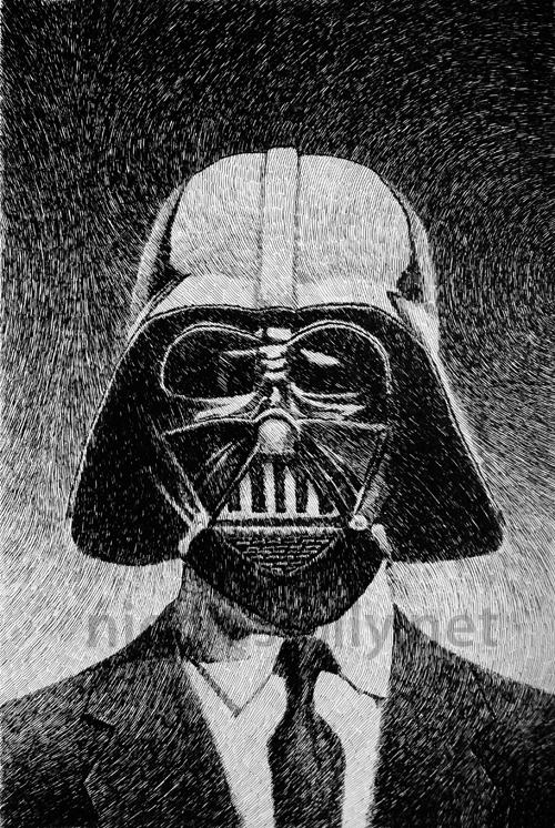 Darth Vader portrait by nicolasjolly