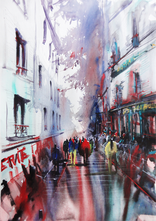 Paris Painting Montmartre by nicolasjolly
