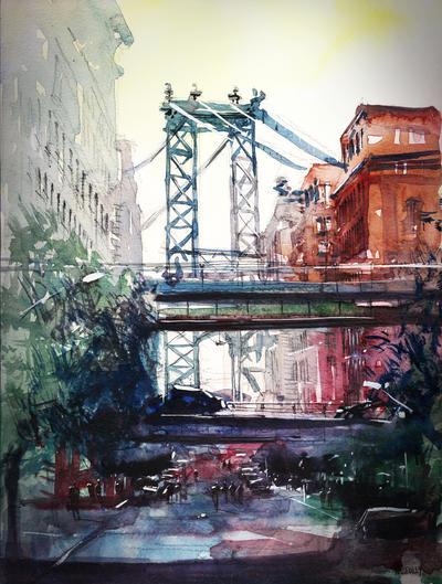 New York - Under the bridge by nicolasjolly