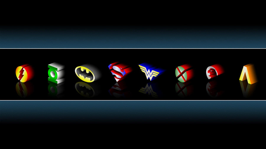 Justice League Emblems by MitchellLazear